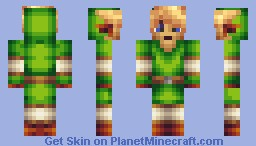 Link LoZ Minecraft Skin