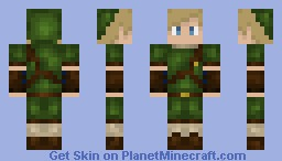 Link {3D Features} Minecraft Skin
