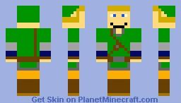 Link from Skyward Sword Minecraft Skin