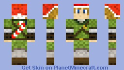 Christmas Link! With Hat and Candy Cane! Minecraft Skin