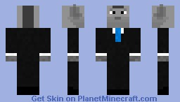 Wolf in a Suit Minecraft Skin