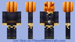 Living Scarecrow (with 3D pumpkin head!) Minecraft