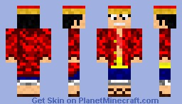 Monkey.D.Luffy - two years after - Minecraft Skin