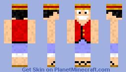 Monkey D. Luffy Minecraft Skin