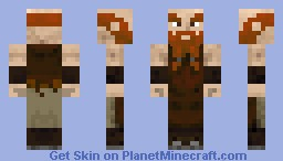 Dwarf blacksmith Minecraft Skin