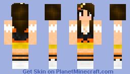 Candy Corn Girl (Halloween!) :D *Updated* Minecraft Skin