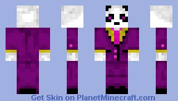 Panda Pimp Minecraft Skin