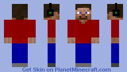 Headphones on top Minecraft Skin