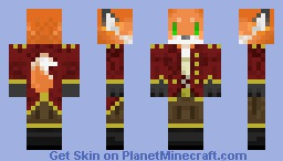 Werefox Male Pirate Minecraft