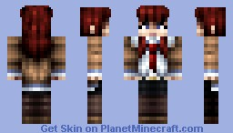 Makise Kurisu from Steins;Gate Minecraft Skin