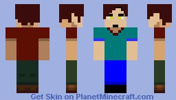 Man In T-Shirt. Minecraft Skin