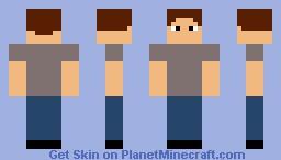 Man In Jeans Minecraft Skin