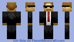 Man in Black Agent Minecraft Skin