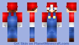Mario - Super Mario Bros Minecraft Skin