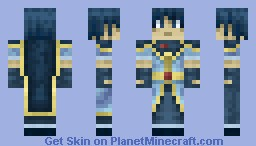 Marth - Fire Emblem [3D hair] Minecraft Skin