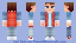Marty Mcfly -  Back to the future Minecraft Skin