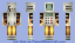 Circuit Bot - Contest Skin 15th Place! || Re-Textured! Minecraft Skin
