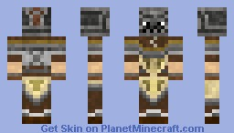 Medieval Barbarian - looks better in 3D Minecraft Skin