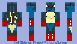 Mega Lucario Minecraft Skin