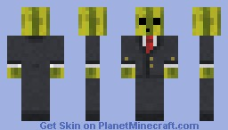 Melon In a suit! Minecraft Skin