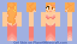 Pink Mermaid Minecraft Skin