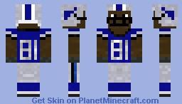 Detroit Lions Football player: Calvin Johnson Minecraft Skin