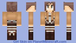 Sasha Braus WIP (Attack on Titan) (Potato Girl) Minecraft Skin