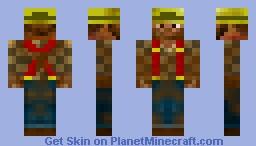 Steve the miner V2 (3D) Minecraft Skin