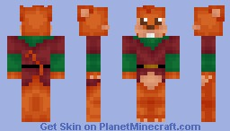 Red Wall Mouse Minecraft Skin