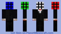 Mr.Rubik! (Amazing in 3D) Minecraft Skin