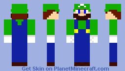 Luigi (Mario) Minecraft Skin