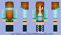 HoodieGirl5(LightBlue) Minecraft Skin