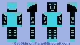 Neon Blue Guy Minecraft Skin
