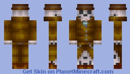 Skeleton in a Trench Coat Minecraft Skin