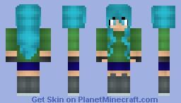 Electric Blue Hair :3 Minecraft Skin