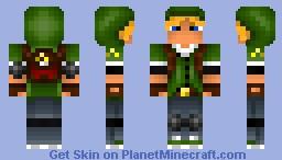 Modern survival style Link! Minecraft Skin