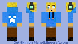 Teenager with blond hair Minecraft Skin