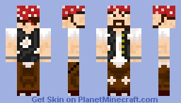 New and Better Pirate Minecraft Skin