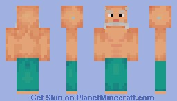 Old man with sixpack Minecraft Skin