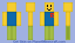 ROBLOX Noob Minecraft Skin - Descargar skins para minecraft pe noob