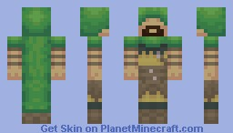 Hooded Archer (3-D Hood!) Minecraft Skin