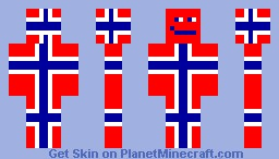 Norway Flag Minecraft Skin