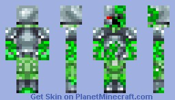 Cyborg Creeper Minecraft Skin