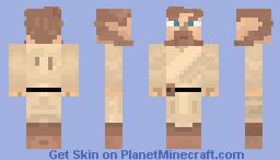 Obi-Wam Kenopi - An Inspired Obi Wan Skin /w 3d looking eyes! Minecraft Skin
