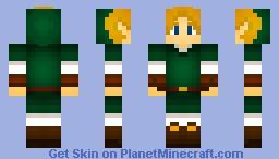 Zelda Ocarina Of Time Adult Link Minecraft Skin - Skins para minecraft zelda