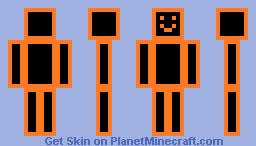 Orange Box Guy Minecraft Skin