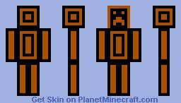 Black and Orange Creeper Minecraft Skin