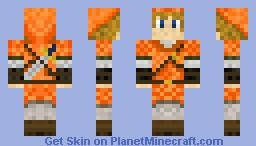 Orange Link Minecraft Skin