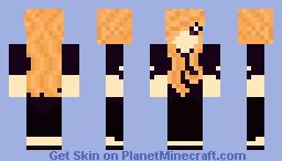 Purple Sweater W/ Orange Hair Minecraft Skin