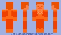 Orange Lantern Construct (Steve) Minecraft Skin